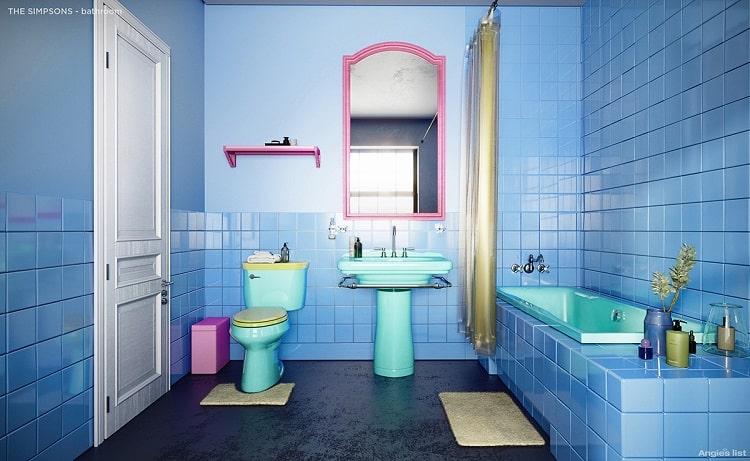 The Simpsons house bathroom