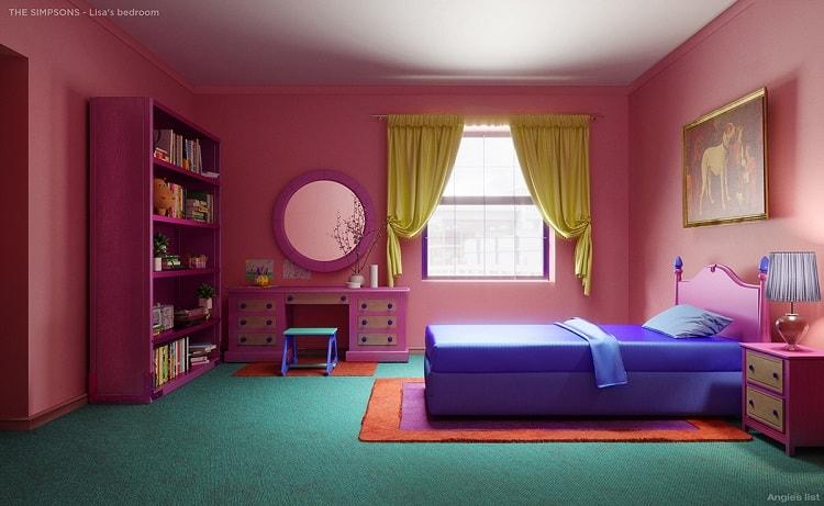 the simpsons house lisa's bedroom