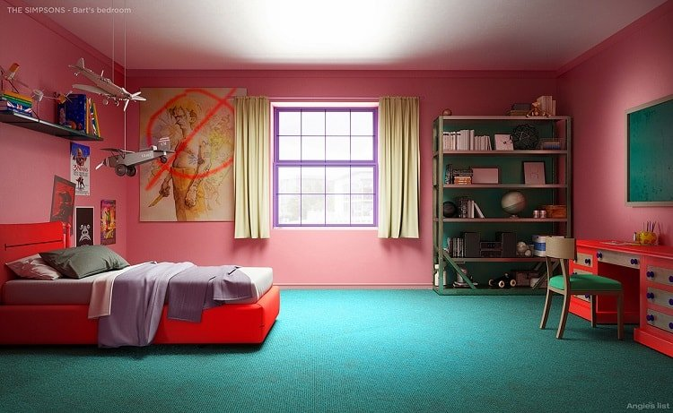 the simpsons house bart's bedroom