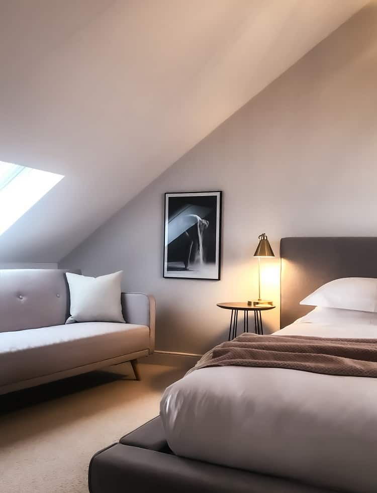 attic bedroom with plenty of natural light