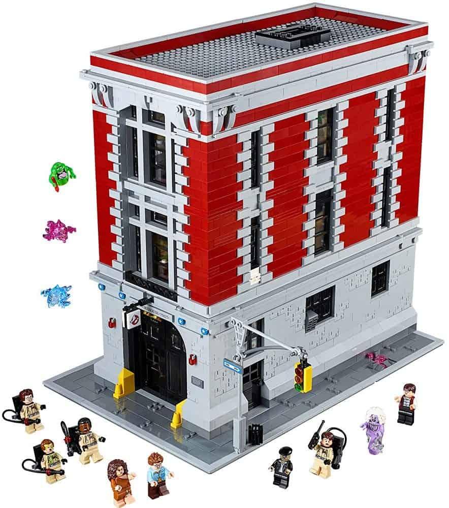 ghostbusters firestation lego building kit