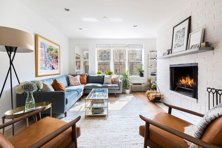 apartment with fireplace in chelsea ny