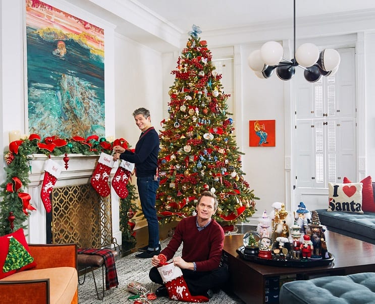 neil patrick harris house on christmas