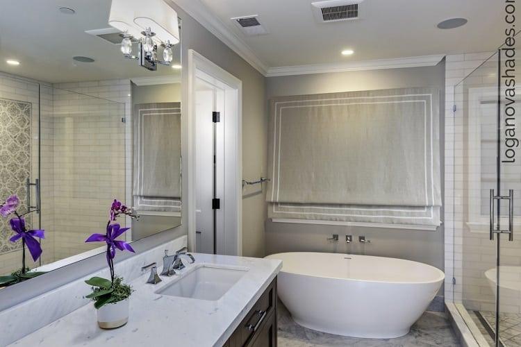 bathroom window treatment