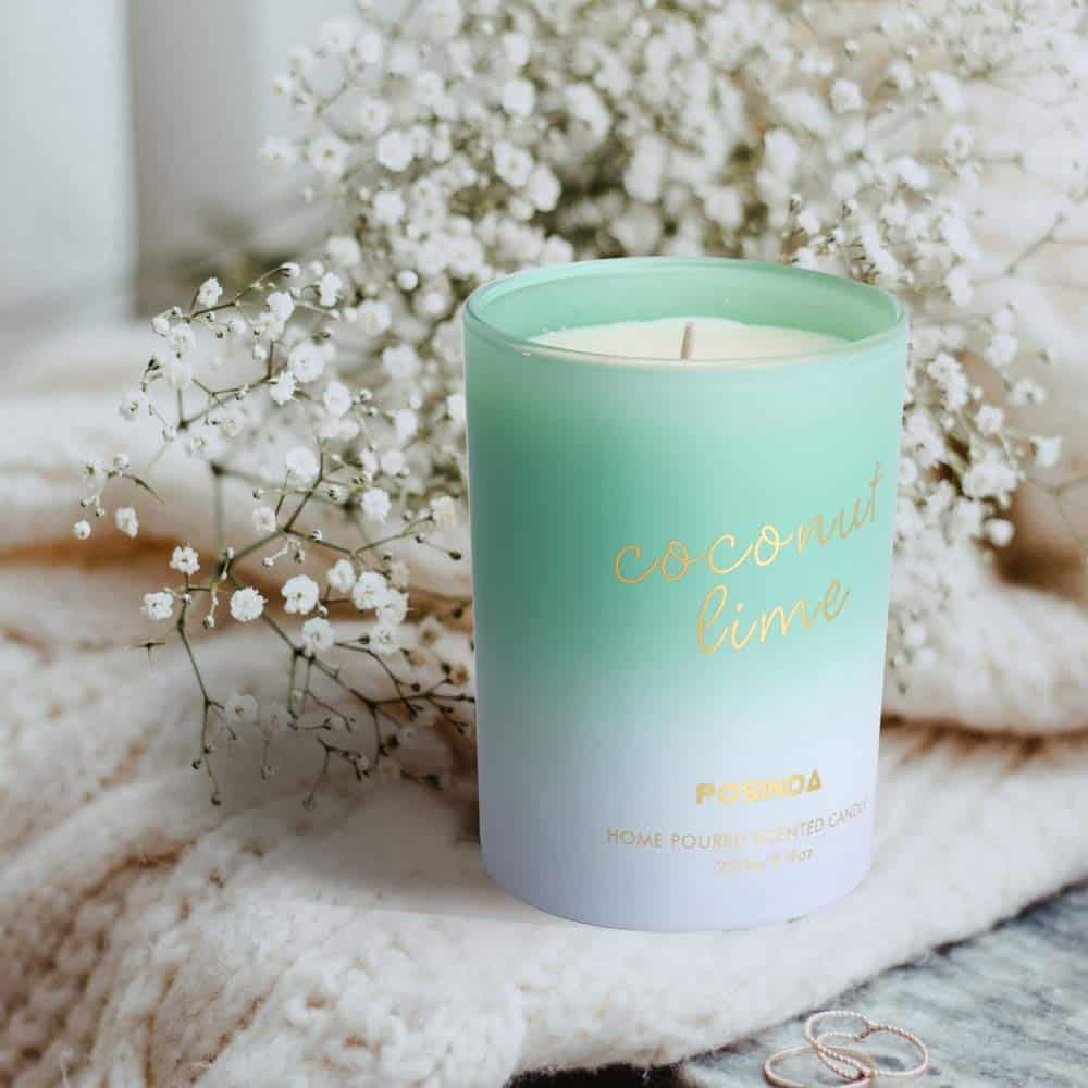 scented candle coconut lime