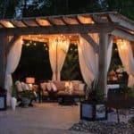 pergola outdoor living space design