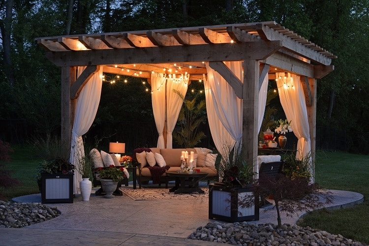pergola outdoor living space design