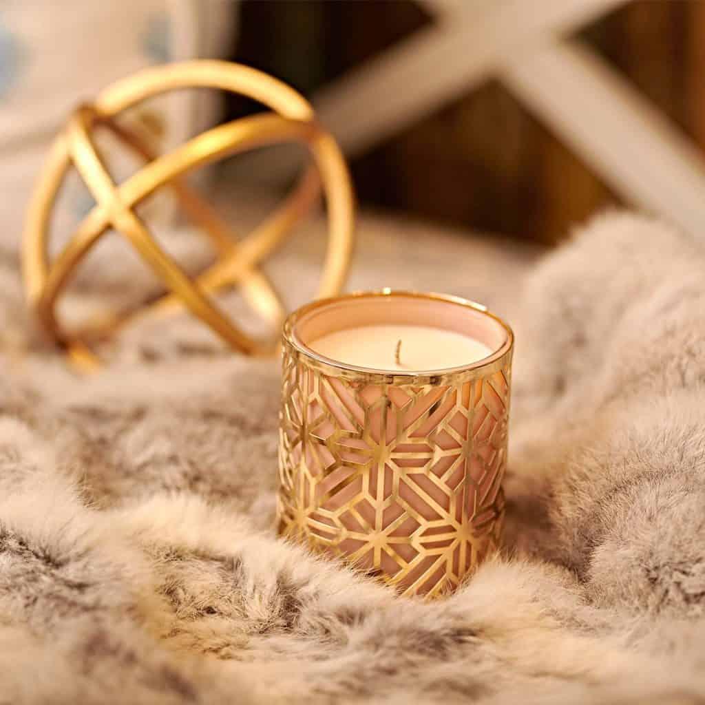luxury candle golden