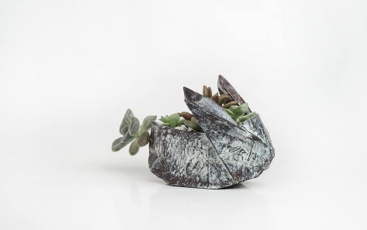 origami copper sculpture