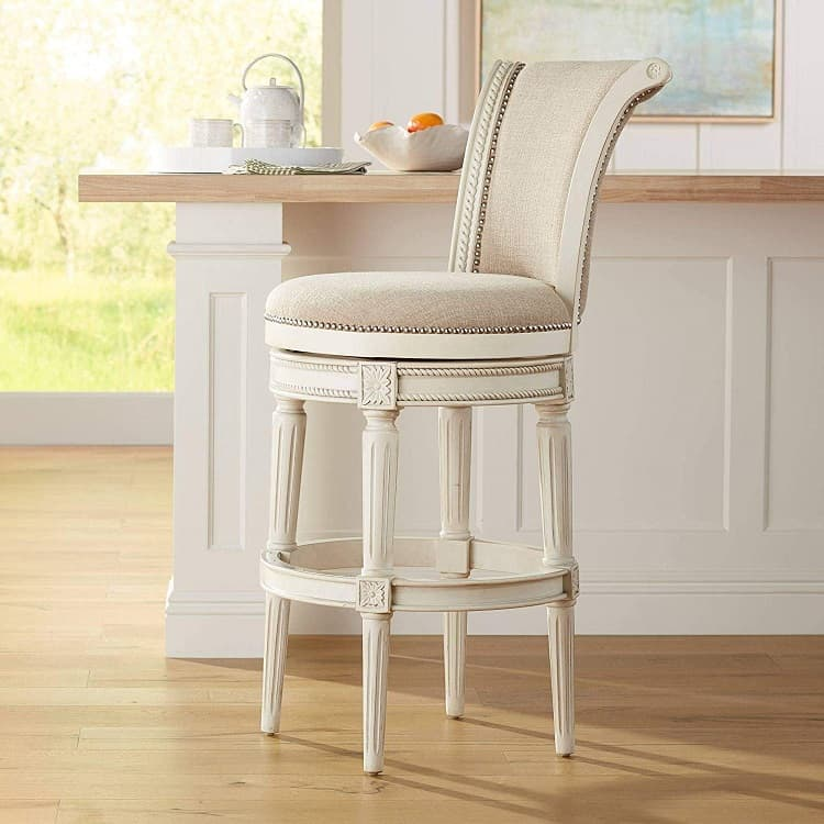 elegant fabric bar stool