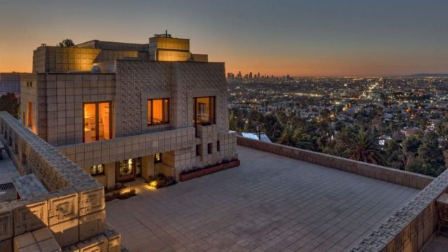 Frank Lloyd Wright's Ennis House in LA