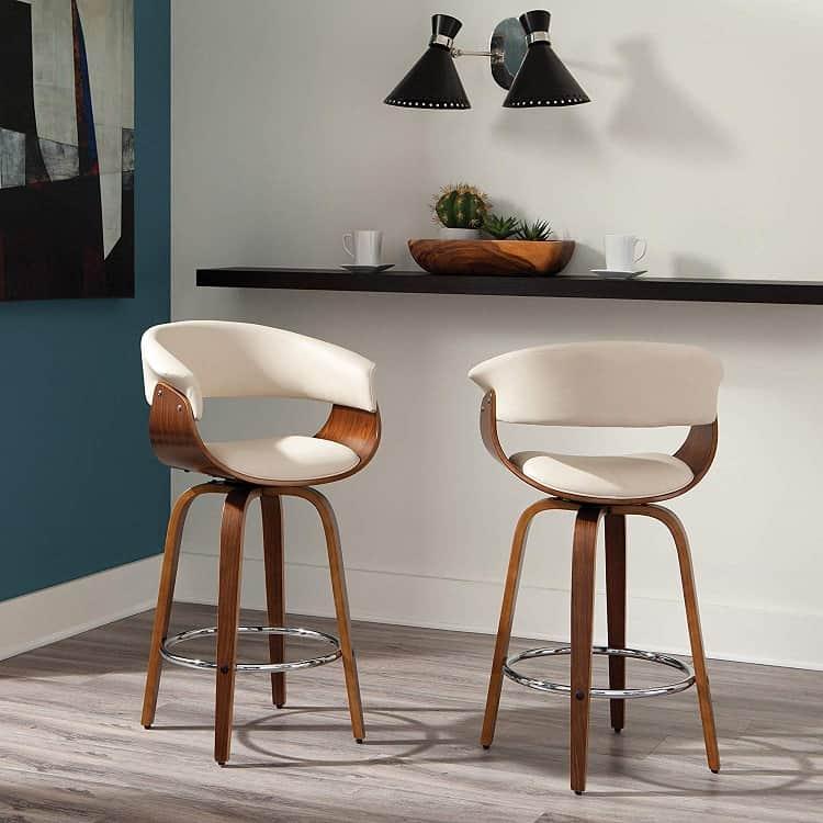 mid-century modern swivel stool