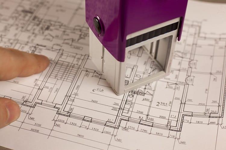 blueprint approval stamp