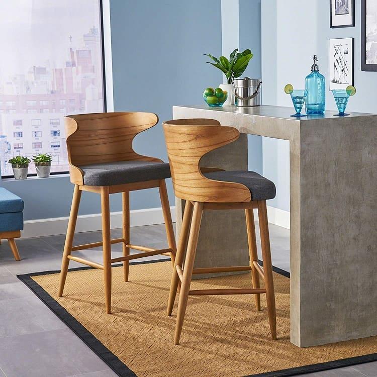 mid-century modern bar stool
