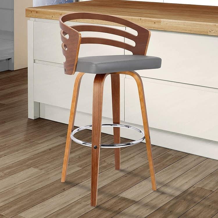 mid-century swivel bar stool
