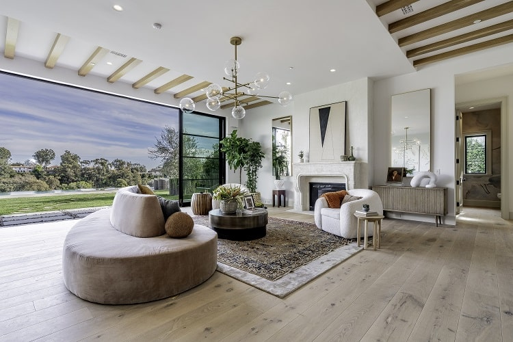 luxury house interiors pacific palisades