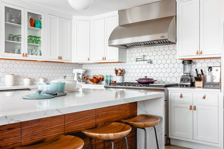 bright kitchen granite countertops