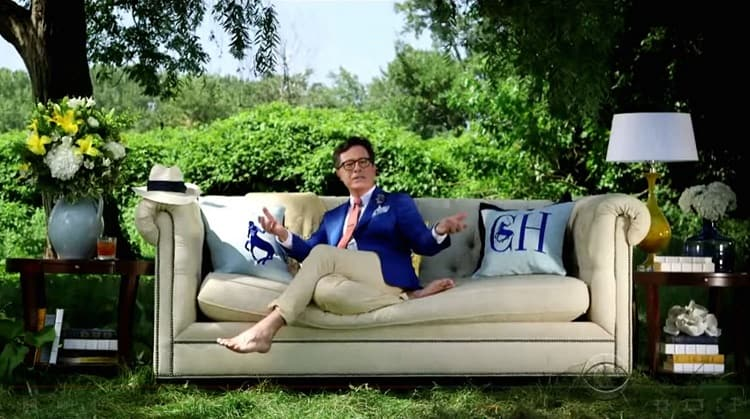 stephen colbert at home