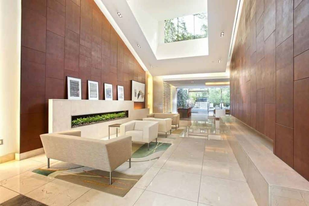 lobby of serena's apartment