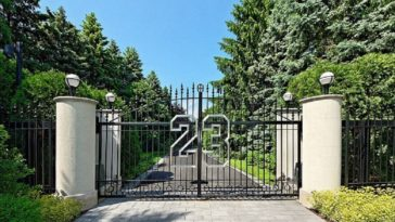 gate to michael jordan's house
