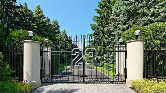 gate to michael jordan's house