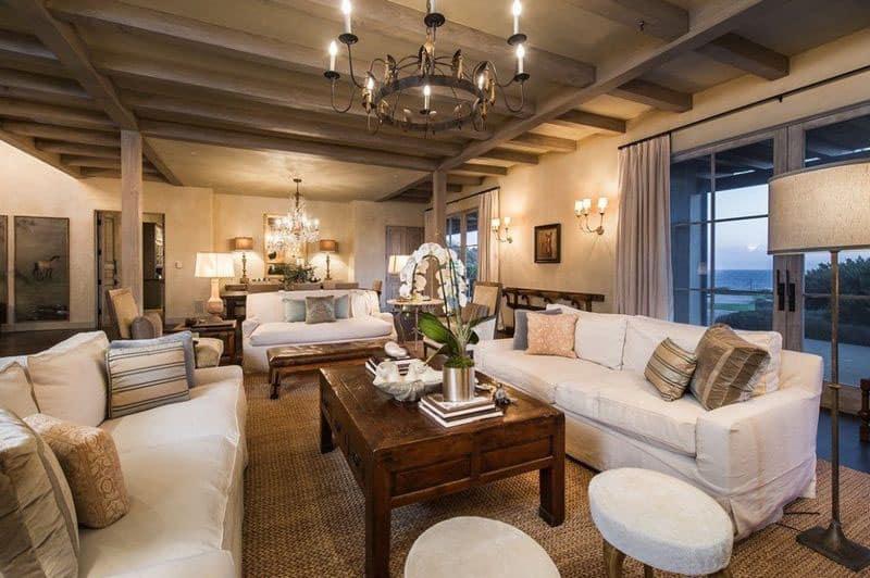 lady gaga house, living room