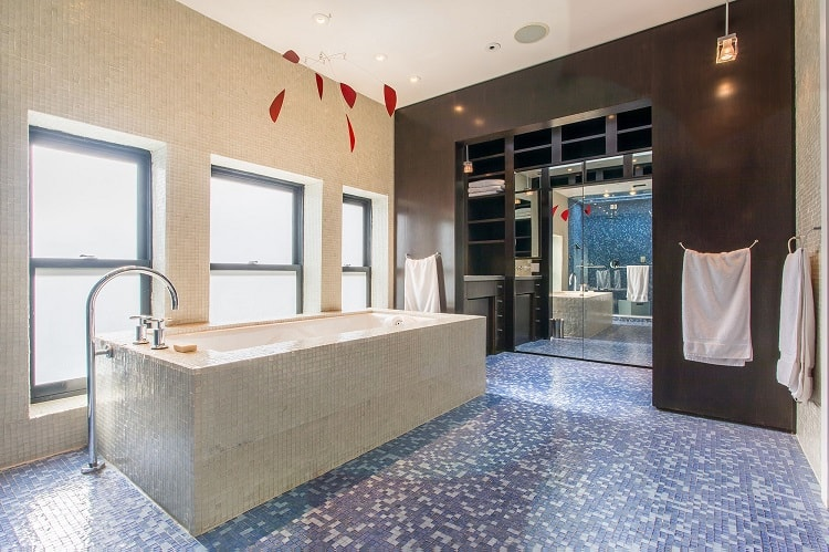 bathroom of East Village synagogue turned luxury rental