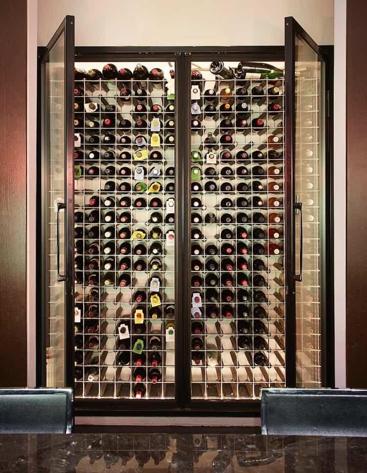 wine cooler in East Village synagogue turned luxury rental