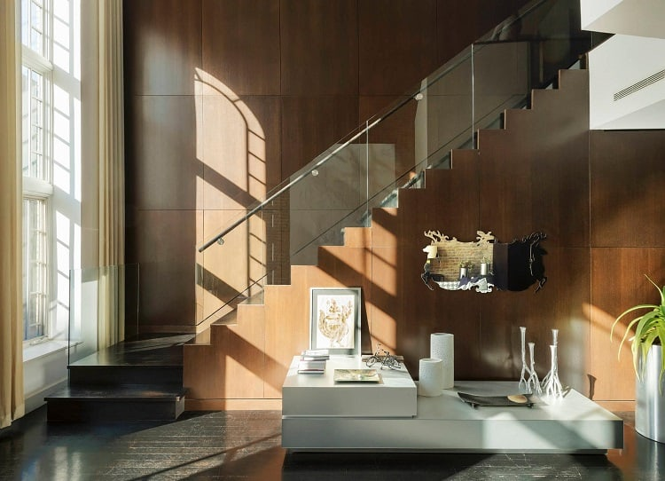 modern interiors of east village synagogue converted into rental