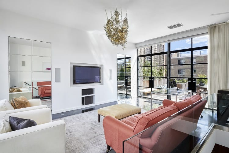 East Village synagogue turned luxury rental - interiors