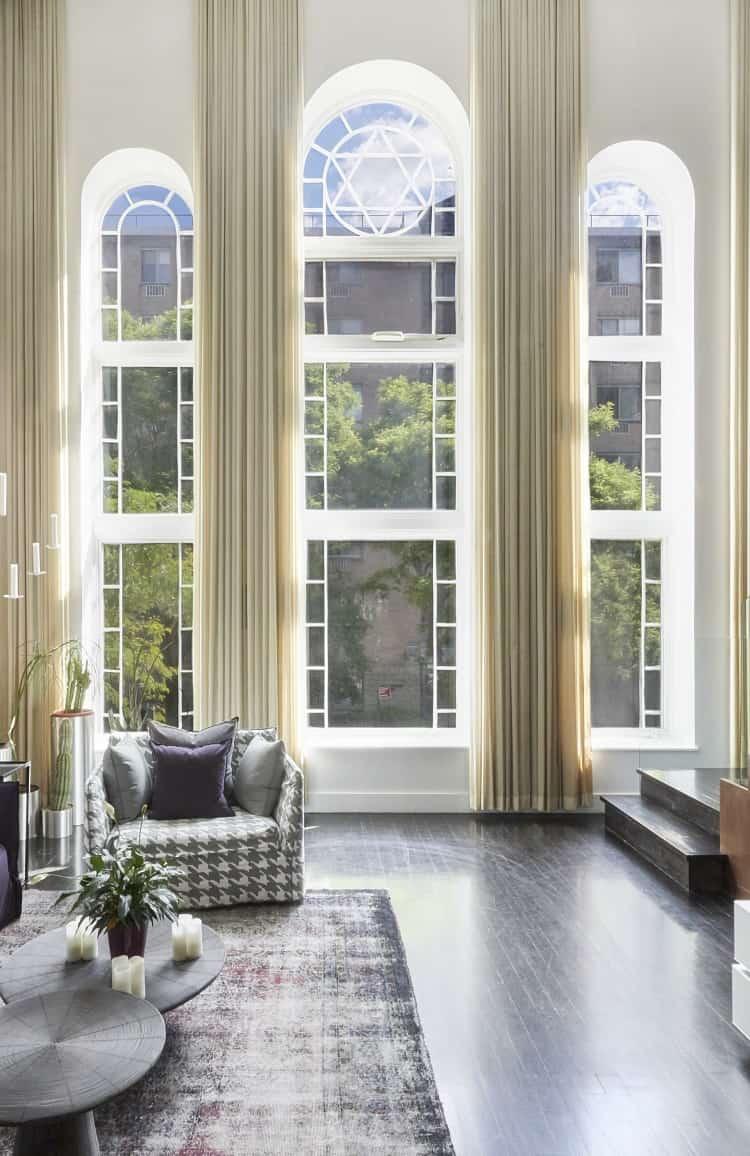 spacious living room east village rental