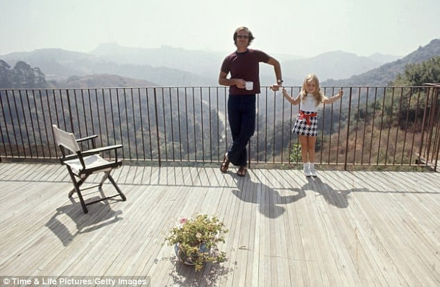 jack nicholson at home on mulholland drive