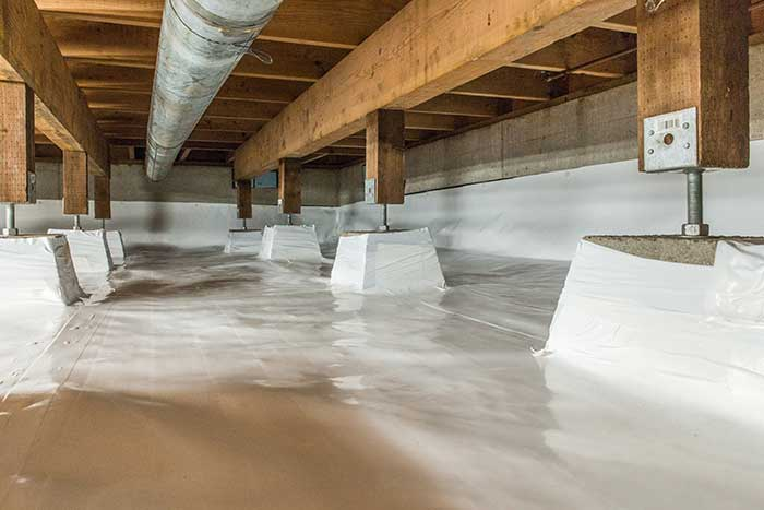 a properly maintained crawl space
