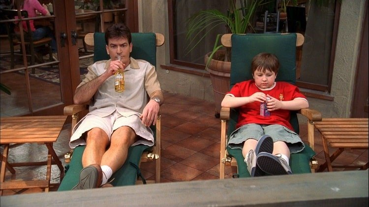 two and a half men charlie's deck