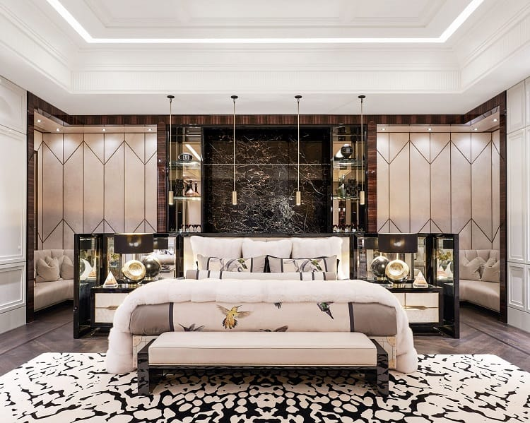 drake's bedroom in his toronto house
