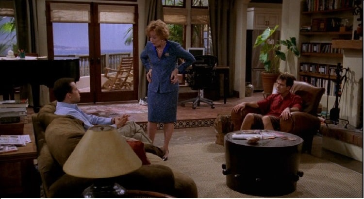 two and a half men living room