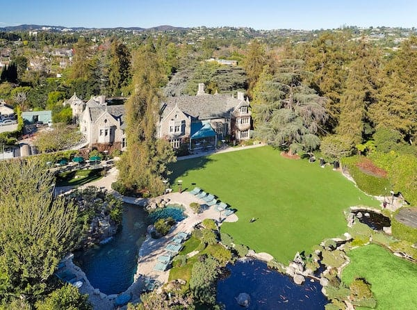 playboy mansion from above