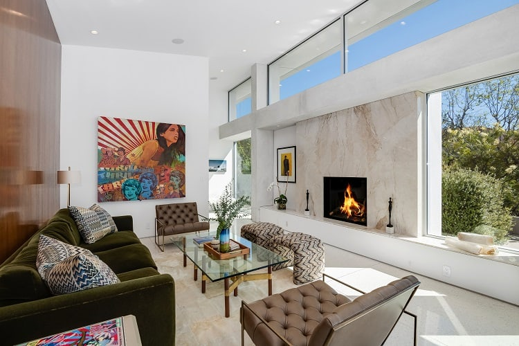 living room of a Luxury home for sale in Beverly Hills