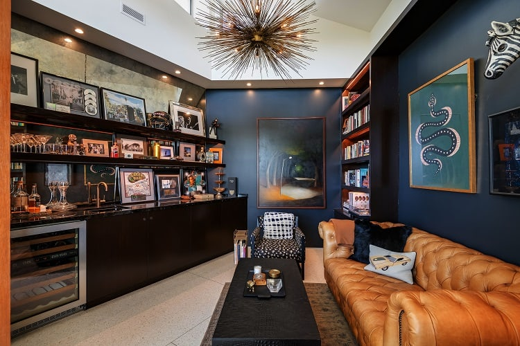den of luxury home for sale in Beverly Hills