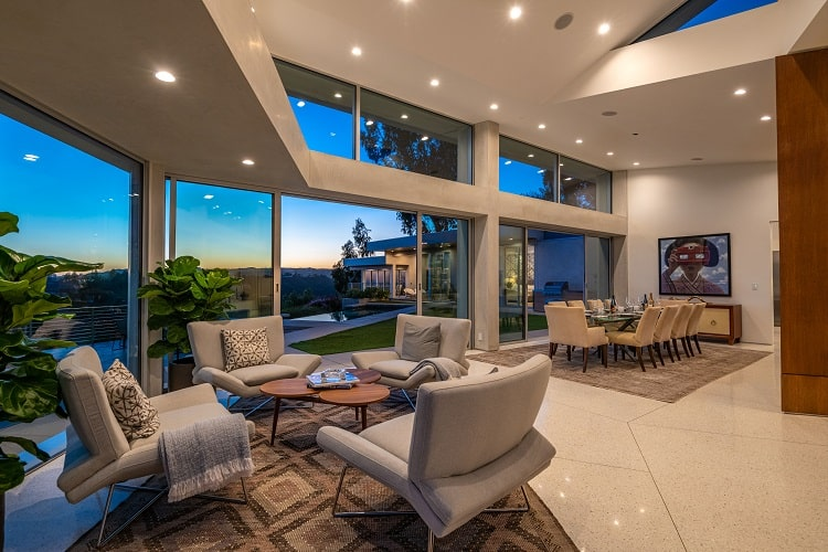 living area of a Luxury home for sale in Beverly Hills