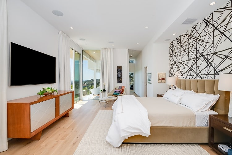 bedroom of a Luxury home for sale in Beverly Hills