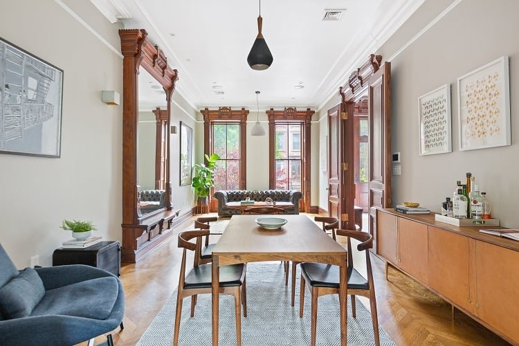 Restored townhouse in Bed-Stuy, Brooklyn NY