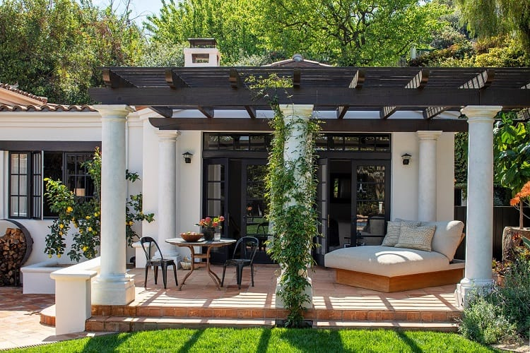 Outdoor area in Kendall Jenner's house in Los Angeles