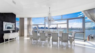 luxury apartment owned by the Redingers