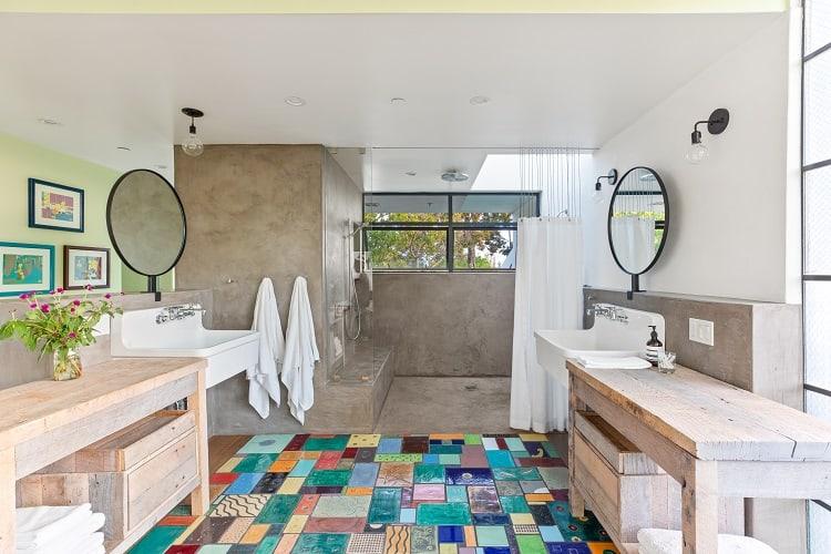 inside an ultra-modern, art-filled home in Venice, CA.