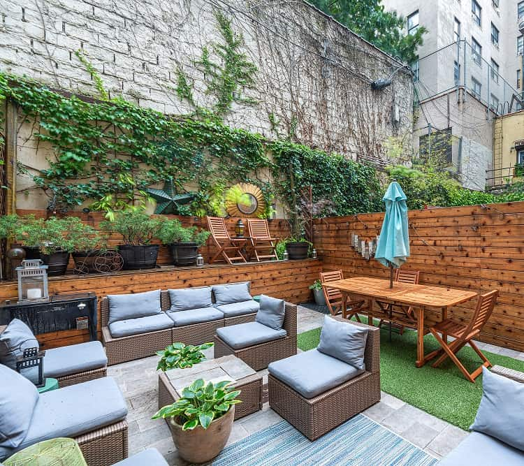 Brooklyn condo with a charming backyard patio.