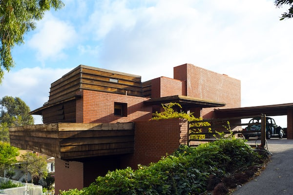 The George Sturges House designed by Frank Lloyd Wright