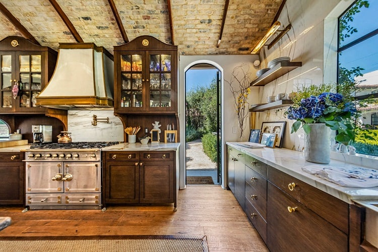 Morgan Brown's exquisite home in West Hollywood: the kitchen.