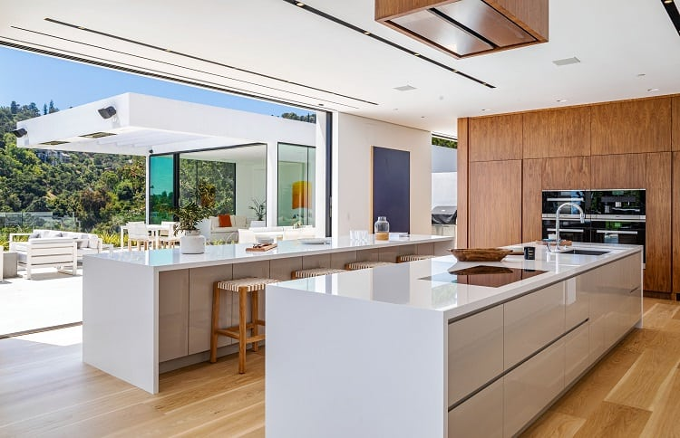 John Legend and Chrissy Teigen's kitchen in their new Beverly Hills house