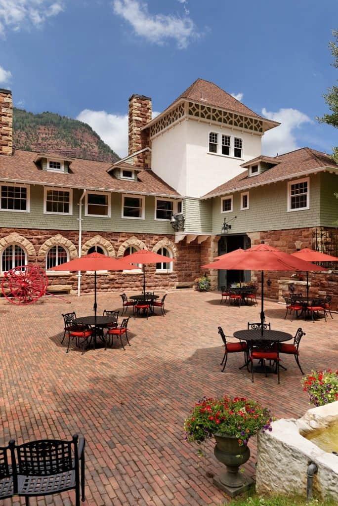 Redstone Castle courtyard